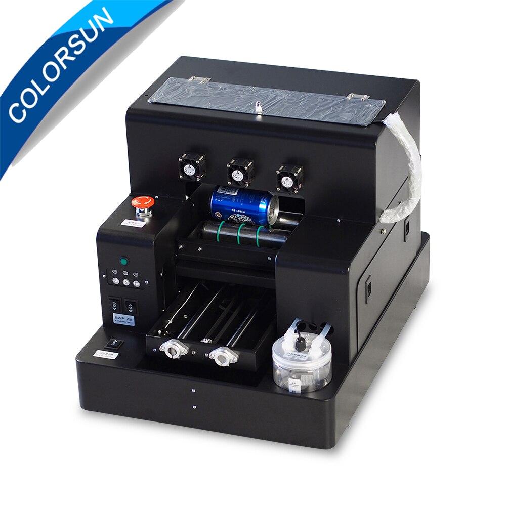 US $1482 74 11% OFF Colorsun Automatic A4 UV flatbed printer Bottle printer  Phone cover Printing Machine for Epson L805 Print head UV printer A4-in