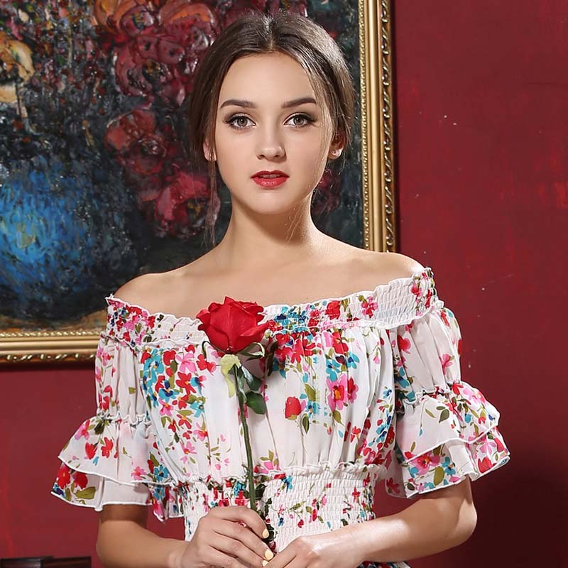 Summer New Upmarket Fashion Temperament Super Sweet Fairy Princess Cake Big  Pendulum Fairy Long -in Blouses   Shirts from Women s Clothing on  Aliexpress.com ... 5286469b7887