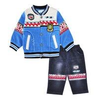 Baby Boys Clothes Set Corduroy Coat T Shirt Pants Spring Autumn 3pcs Outfits Boys Suits Brand