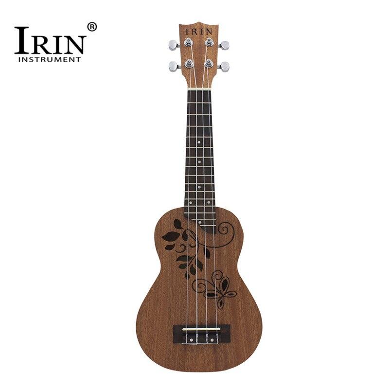 IRIN 21 inch 23 Inch Ukulele Sapele Wood and Rosewood 4 Strings Guitar Hawaii Ukulele Acoustic Guitar For Kids Beginners Gifts