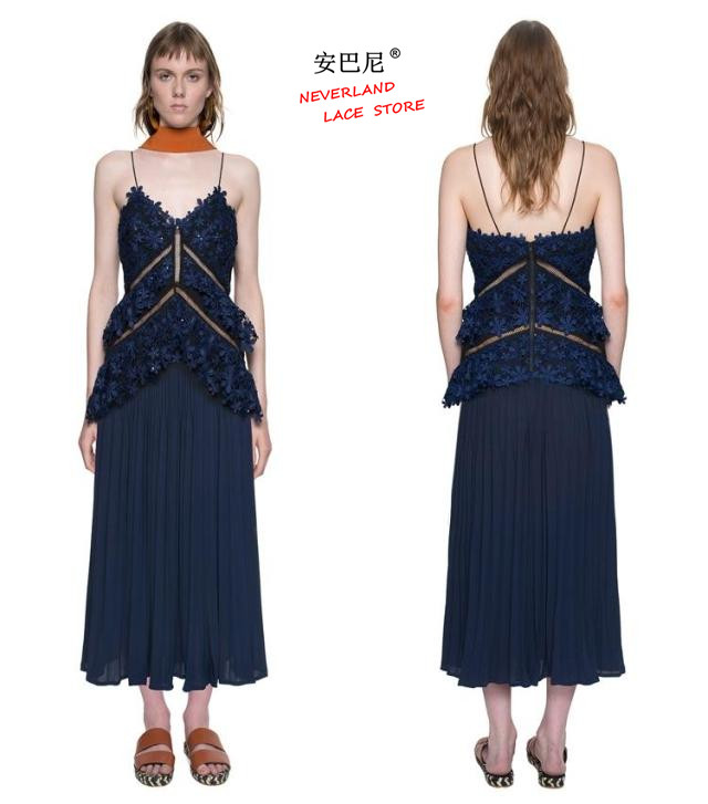 Buy Cheap self portrait dress summer bling robe femme paillettes sexy see through crochet lace sequin spaghetti strap split backless dress