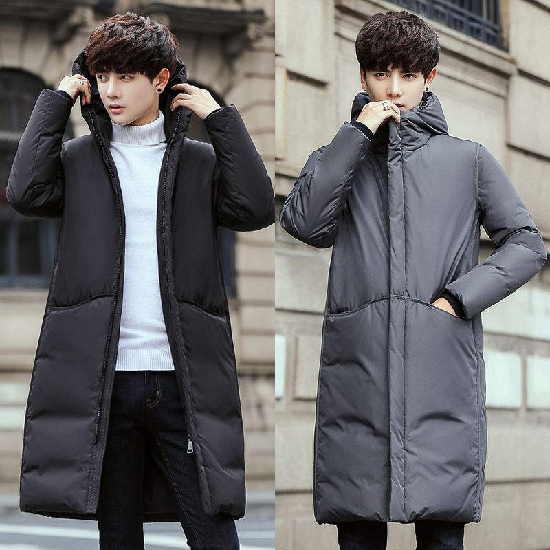 Parka   Men Winter Men Coat 2018 Hot Sales Winter Jacket Men Plus Size 90% White Duck Down Slim Long Warm Jacket Men Winter   Parkas