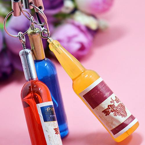 Mini Wine Mobile Phone Chain Simulation Wine Bottles Red Wine Key Chain Key Holder