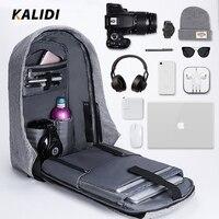 KALIDI 15 17 inch Waterproof Laptop Bag Men Notebook School bag 15.6 inch Laptop Backpack USB Charging for Macbook Pro 15 17