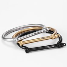 Mcllroy Size 17.5cm Stainless steel Bracelet Horseshoe Bangles Men's bracelet Cuff Bracelet D shape Gold Screw Cuff Bangles