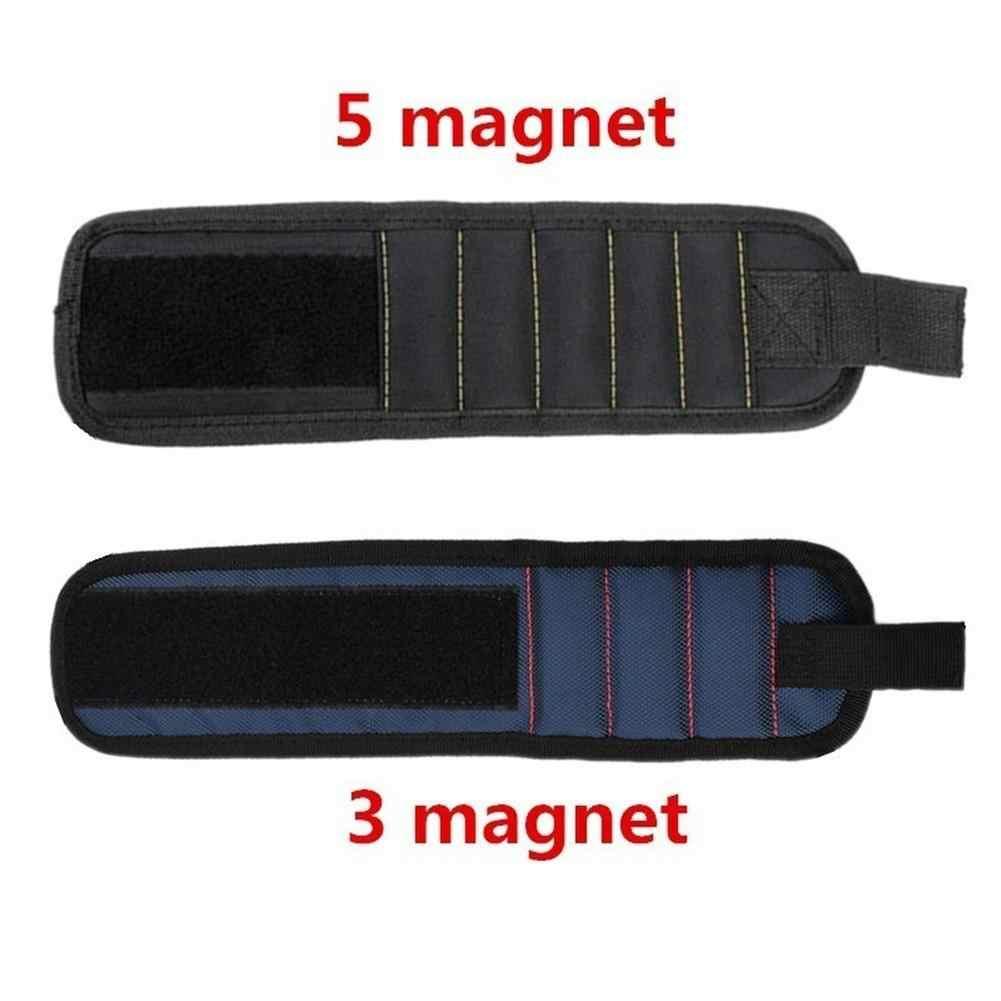 1 шт. магнитный инструмент поясная сумка 3 или 5 Магнитный браслет мешки для браслетов для саморезы сверла плотник инструмент для ремонта авто