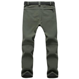 Image 2 - Winter Pants Men Outwear Soft Shell Fleece Thermal Trousers Mens Casual Autumn Thick Stretch Waterproof Military Tactical Pants