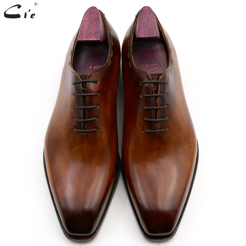 Image 4 - cie square toe whole cut bespoke custom handmade shoe full grain calf leather office shoe mens oxford shoe color brown OX08Formal Shoes   -