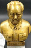 chinese brass Great Leader Mao Zedong Revolutionist Mao Bust statue Sculpture