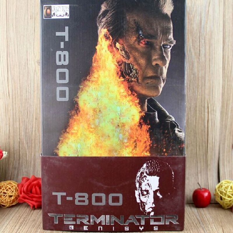 "2015 Movie The <font><b>Terminator</b></font> T-800 Arnold Schwarzenegger PVC Doll Action Figure Model Toy 12"" 30cm With Box Free Shipping"