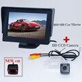 """Car CCD cámara de espejo de coche cámara de aparcamiento para Nissan Qashqai X-trail 2en1 4.3 """"monitor del espejo y aparcamiento trasero cámara CCD"""