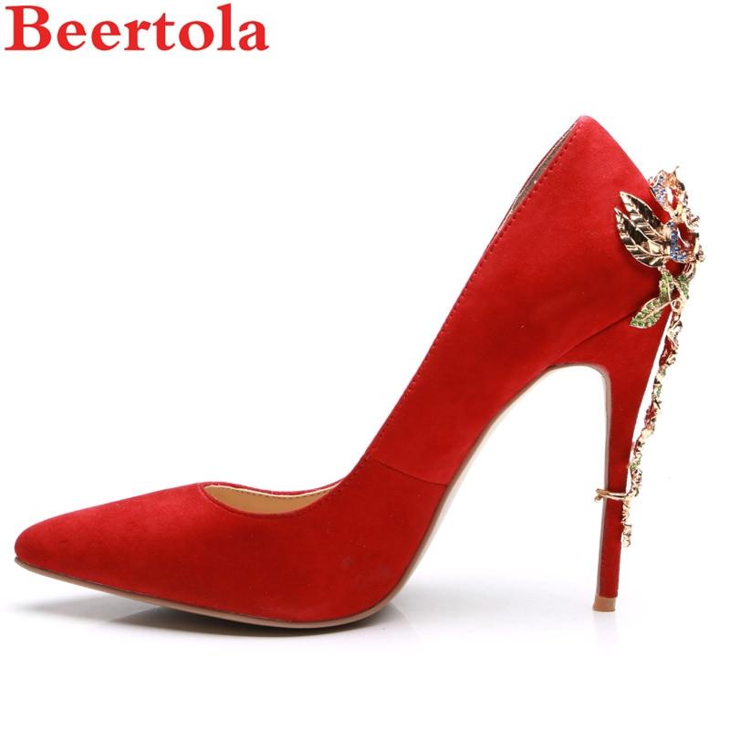 Zapatos Oficina Mujer Altos Rojo Tacones Beertola Picture Rhinestone  desnudo Boda Cristales As Estrecha Gladiador Bombas ... 956406fae998