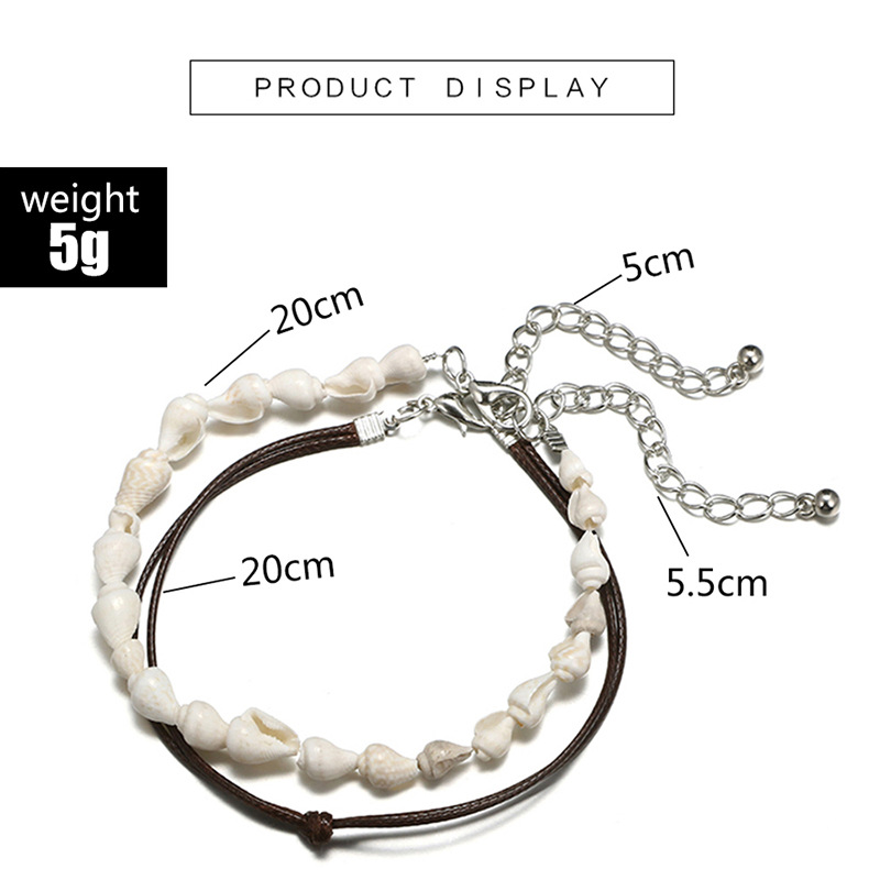 Bohemian Multilayer Anklet Bracelet Shell Turtle Anklets For Women Summer Beach Barefoot Bracelet Ankles Fashion Beach Jewelry in Anklets from Jewelry Accessories