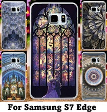 Good Selling Hard and Silicon Cover For Samsung Galaxy S7 Edge G935A Cases With Dream CatcherChurch muralBohemia Pattern Shell