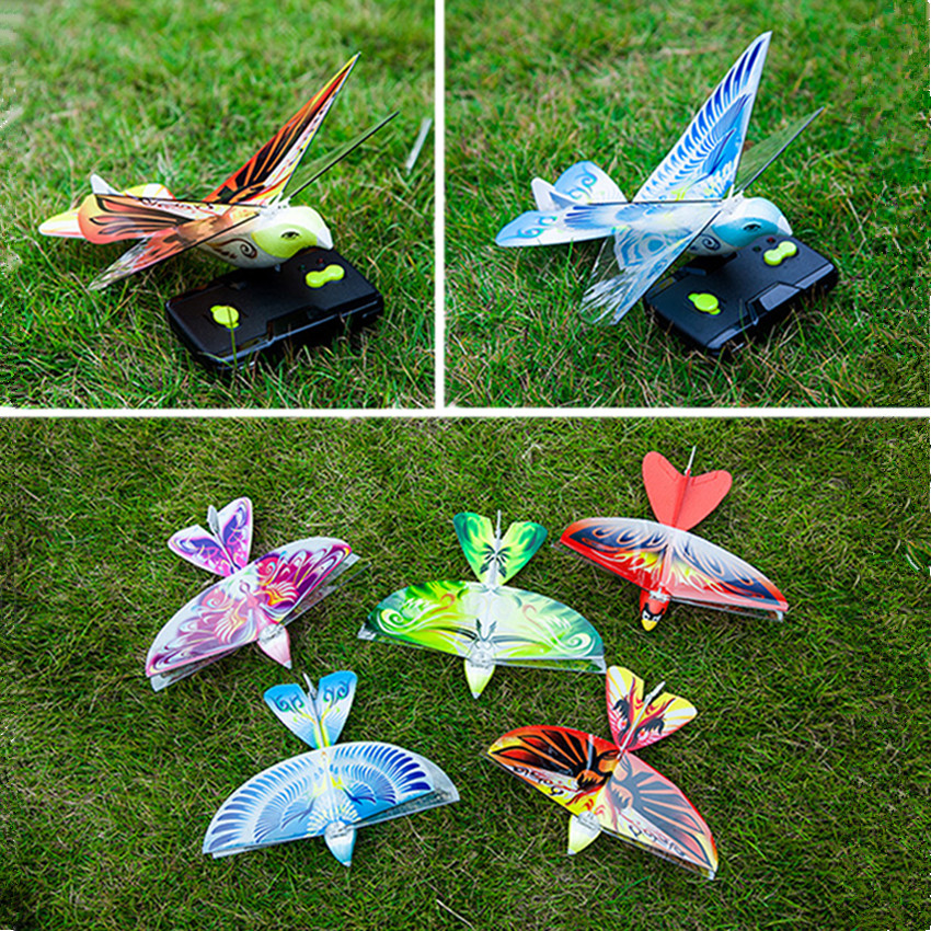1PC RC Bird Toy Simulation Bird With LED Lights Sound Remote Control Flying Bird Remote Control Flying Toy Mini RC Drone Toys цена