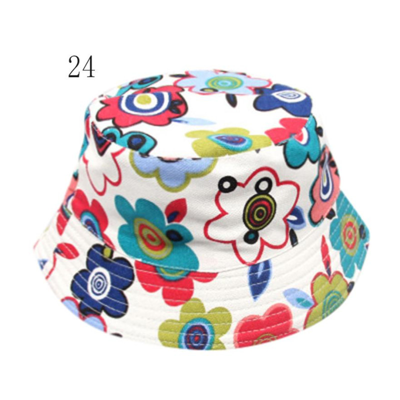 wholesale drop shipping Toddler Baby Kids Boys Girls Floral Pattern Bucket Hats Sun Helmet Cap baby beanie 2018 S3MAY15