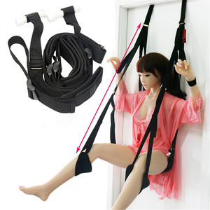 Image 1 - Hanging Sex Door Swing Chair Sex Furniture Bondage Restraints For Couple Flirt With Cushion Leg Pad Sex Love Aid Adult Game