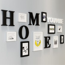 9Pcs Picture Frames With Letters For Home Decor White & Black Kits Frames For Pictures Picture Frame quadros de parede para sala(China)