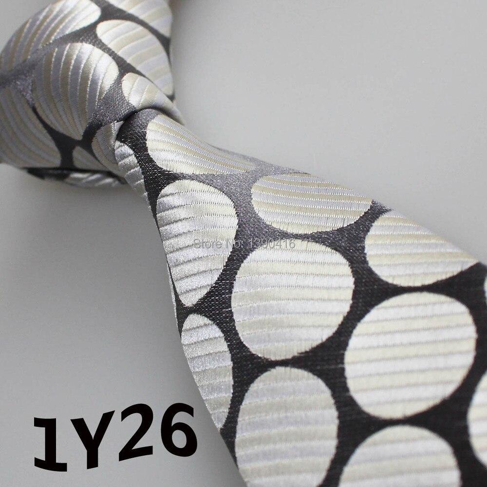 ̀ •́ 2018 corbatas corbata de los hombres gris/plata/amarillo claro ...