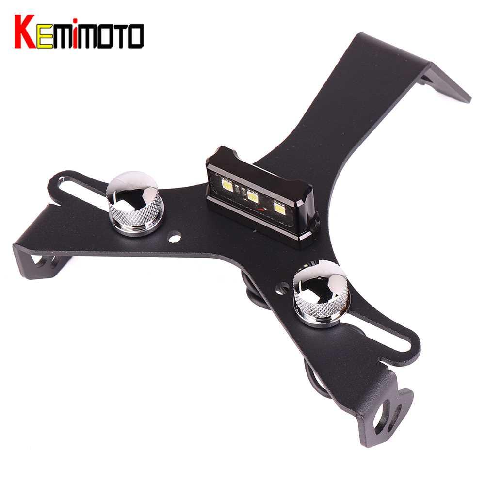 KEMiMOTO For ducati 848 1098 1198 Fender Eliminator Motorcycle License Plate Holder License Bracket Tail Tidy LED lights