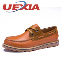 New Fashion Genuine Leather Men Casual Shoes Handmade Flats Breathable Oxford Shoes Outdoor Walking Work Chaussure