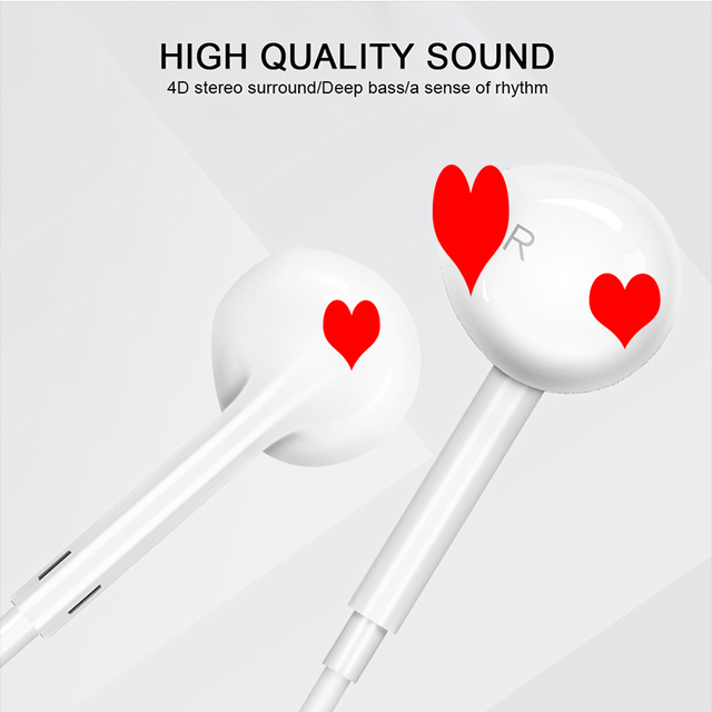 Wired Earphones high quality Headsets With Built-in Microphone 3.5mm In-Ear music headset stereo headset for iPhone Xiaomi