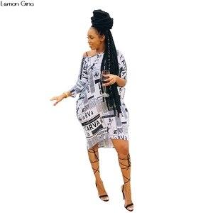 Женское платье с открытыми плечами, винтажное облегающее платье миди с принтом газет и длинным рукавом, для клубов и ночных клубов, A5017, осен...