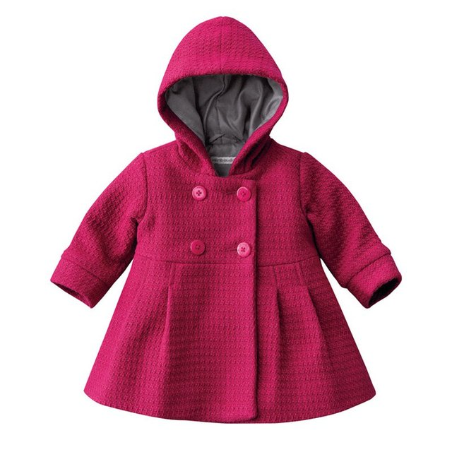 230a2510b2b9 Baby Girl Toddler Warm Fleece Winter Pea Coat Snow Jacket Suit Clothes Red  Pink S2-in Jackets   Coats from Mother   Kids on Aliexpress.com