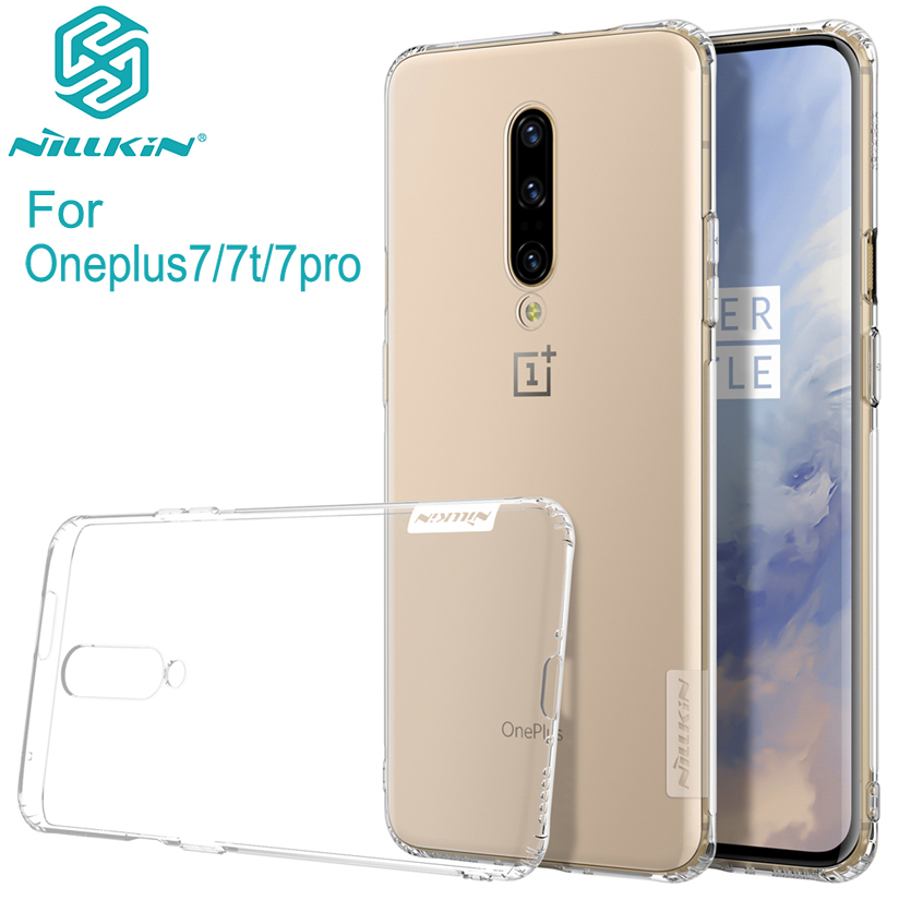 For One plus 7 case oneplus 7 pro case 7T cover NILLKIN TPU clear Transparent soft silicone Case For Oneplus 7 +Retail Package