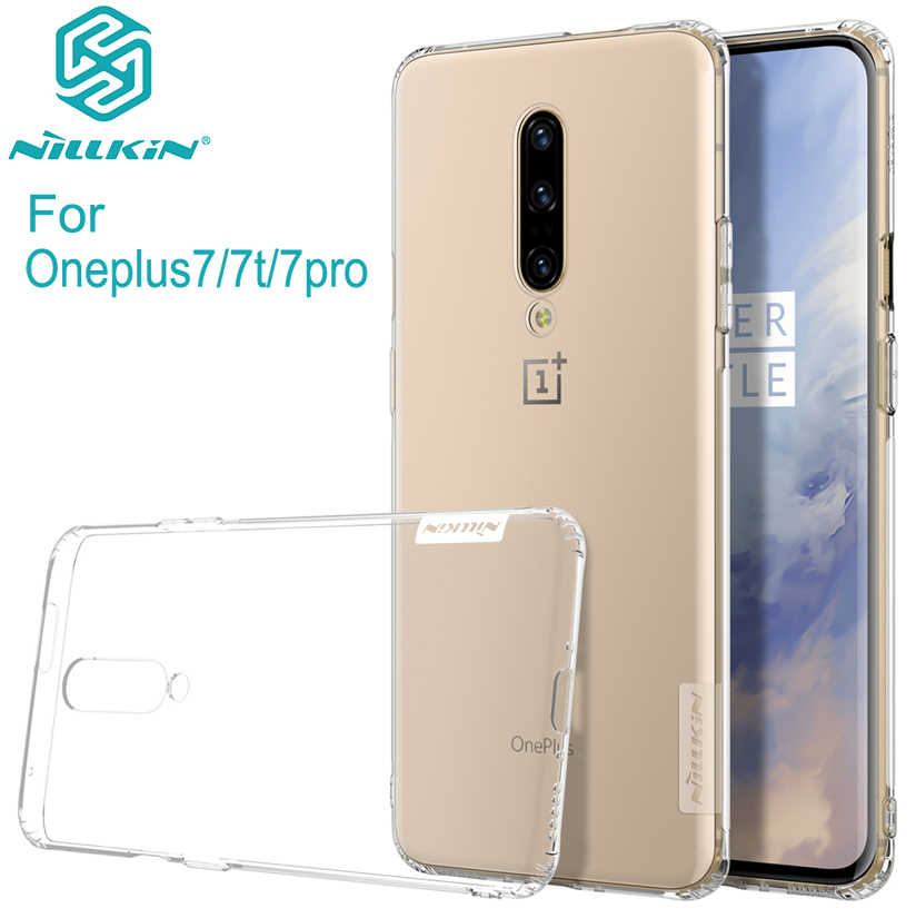One plus 7 case oneplus 7 pro case 7T cover NILLKIN TPU clear Transparent  soft silicone Case For Oneplus 7 with Retail Package