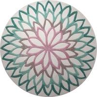 Acrylic Ethnic India Mandala Round Carpets Bedroom Mat Nordic Sofa Coffee Table Rugs Fashion Round Carpet For Living room Kids