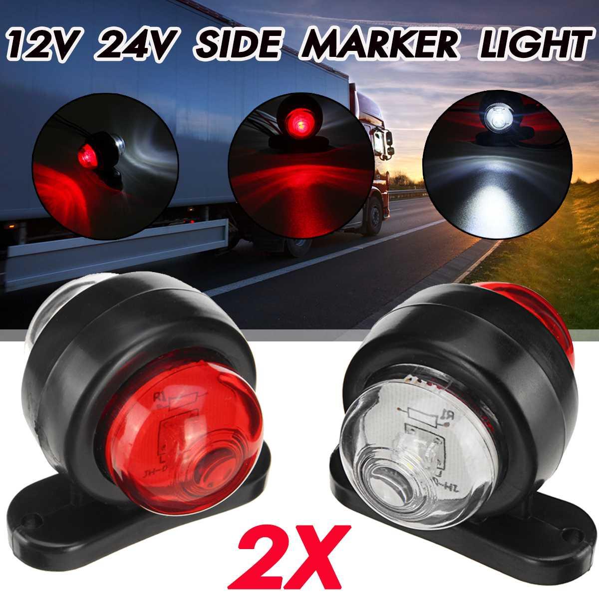 2 PCS 12V LED SIDE MARKER OUTLINE LIGHTS TRUCK LORRY CAMPER VAN MOTORHOME PICKUP