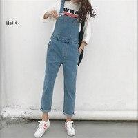 Brief Denim Jumpsuit Women High Waist Pencil Rompers Womens Jumpsuit Long Pants Spring Solid Color Jeans