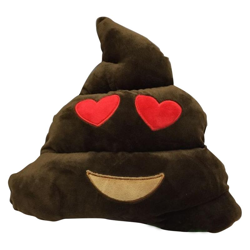 Home & Garden New 35*30*10 Cm Amusing Emoji Emoticon Cushion Poop/poo Shape Throw Pillow Doll Toy With Cute Hat Big Size Drop Shipping Quell Summer Thirst Cushion