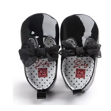 ROMIRUS Cute Bow Toddler First Walkers Shoes Pu Leather Baby Moccasins Newborn Girls Ballet Dress Shoes Soft Soled For 0-18M