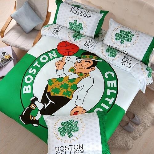 Basketball Bedding Sets NBA Kids/Boys Gift Bulls Rockets Lakers Boston  Celtics Bright Color Comforter