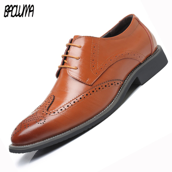 BAOLUMA Men Shoes Luxury Brand Artificial Leather Casual Driving Oxfords Shoes Men Formal Shoes Moccasins Italian Men Flats