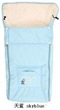 Fashion Newborn Envelope Baby Stroller Sleeping Bags Thick for Winter Infant Sleepsacks for Cart Basket Toddler Fleebag