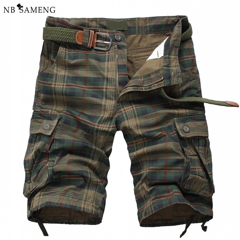 Camo Cargo hombres Shorts de 2018 Beach escocesa Hombre tela pantalones cortos Casual la militar trajes camuflaje g6R6pC8q