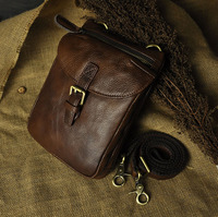 8 Inch Case Genuine Leather Carry Belt Clip Pouch Waist Purse Case Cover For Blackview BV5000