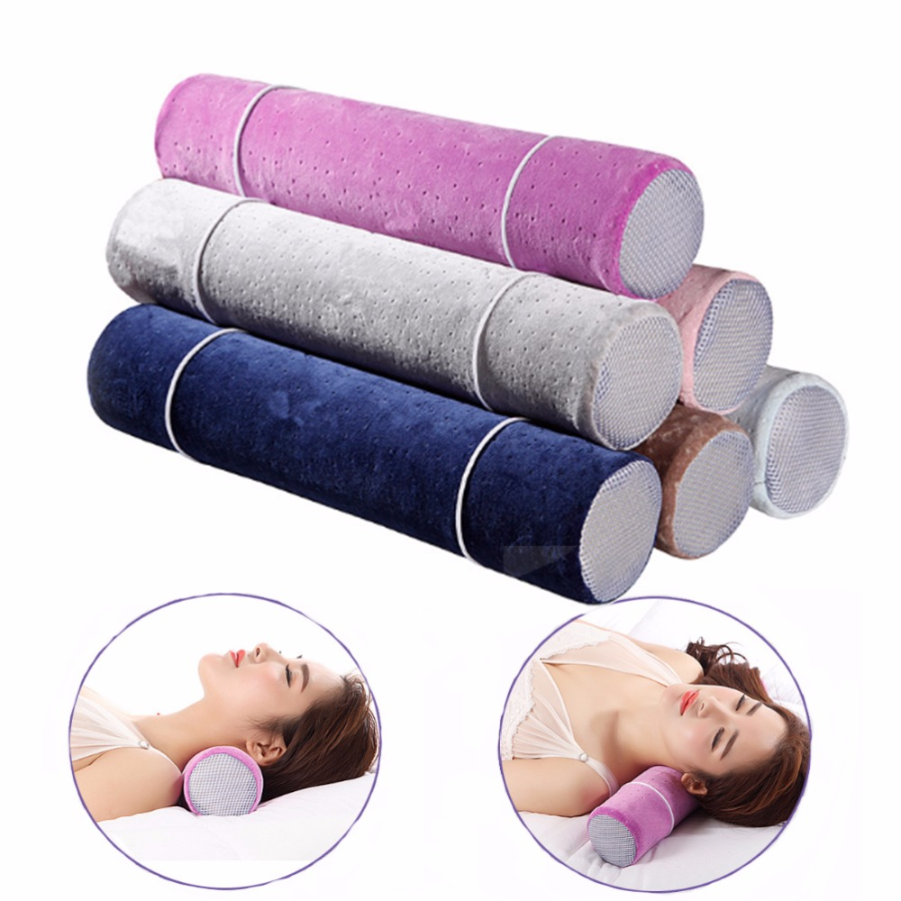 Hongbo 1 Pcs Cervical Linear Traction Neck Pillow Waist Cylindrical Memory Health Nap Random Color
