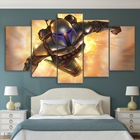 Modern Canvas HD Printed Pictures Wall Art Frame 5 Pieces Fantasy Steel Soldier Painting Home Decor