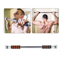Dropship 1pc Black Red Horizontal Bar on The Door Single Pull-up Fitness Equipment Home Use for Body Shape Train Equipment