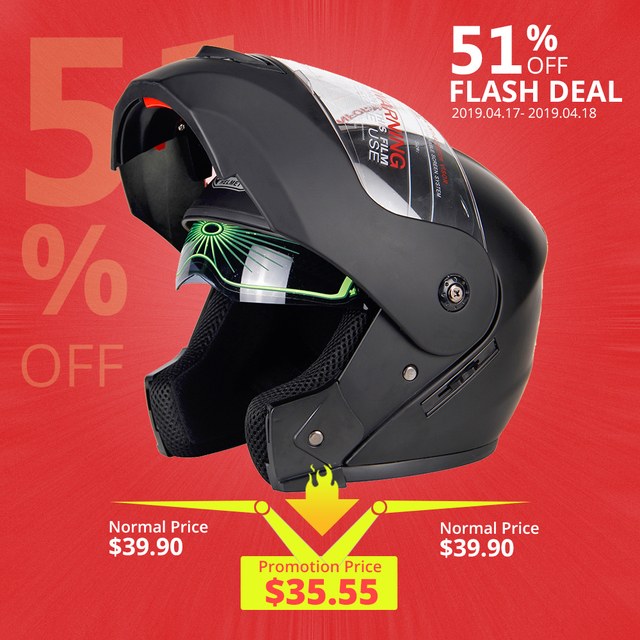 2019 New Flip Up Motorcycle Helmet Racing Modular Dual Lens Motocross Moto Helmet Full Face Helmets Casco Moto Capacete Casque #