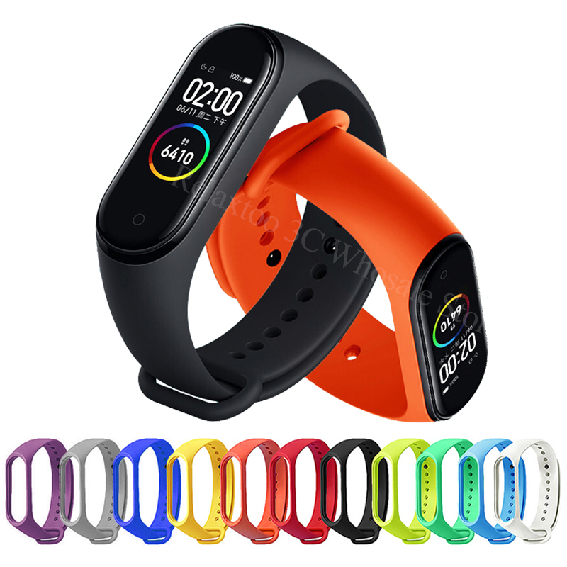 Bracelet Strap Mi Band 4 Silicone Sport Wrist Accessories For Xiaomi Mi Band 3 Strap On Xiomi Miband Band3 Band4 Miband3 Miband4