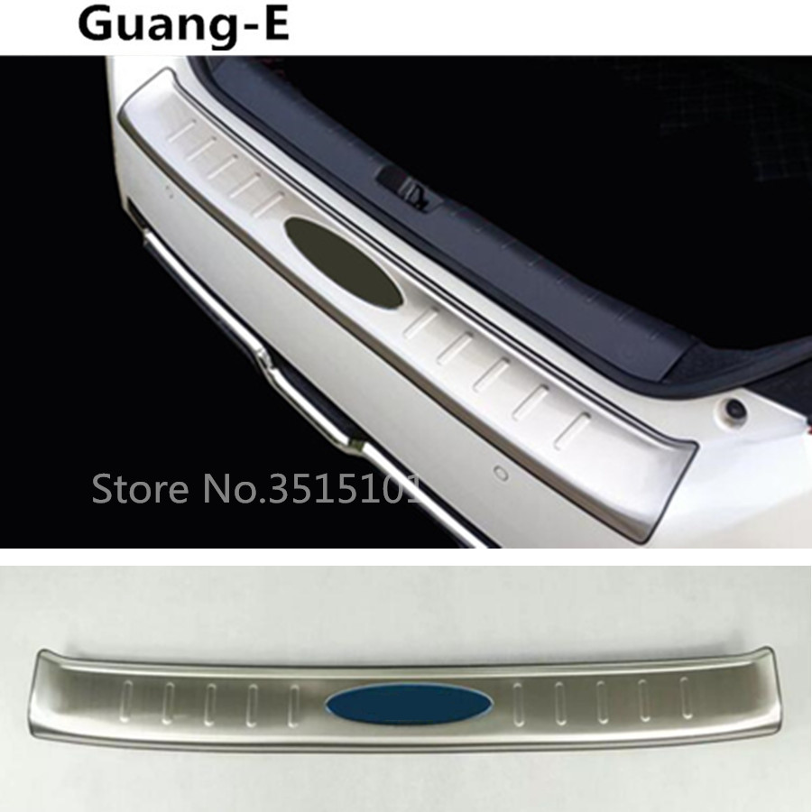 car styling Rear Bumper Trunk Threshold Door Sill Outer Protector Trim Stainless Steel For Honda civic 10th sedan 2016 2017 2018 цена