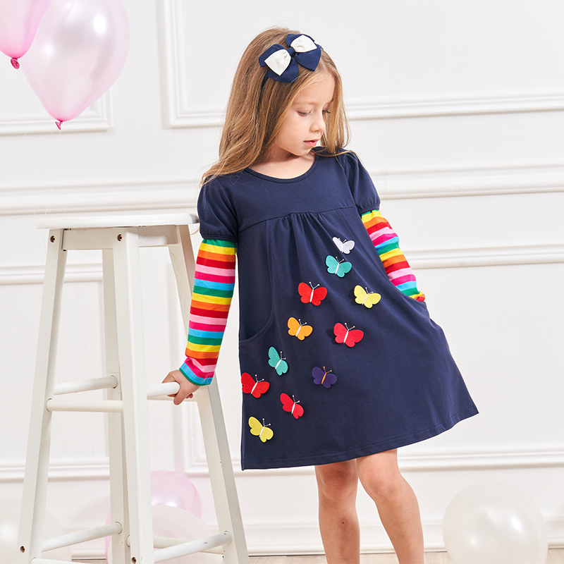HTB13RuyXLvsK1RjSspdq6AZepXa1 VIKITA Kids Girls Dress Baby Children Toddler Princess Dress Vestidos Children's Clothing Girls Winter Dresses 2-8Y LH5805 MIX