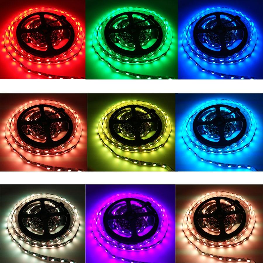 HTB13RuzacrrK1RjSspaq6AREXXaH 10M WiFi LED Strip Light RGB Tape Diode Neon Ribbon tira fita 12V SMD5050 5M Flexible Light String With WiFI Controller adapter