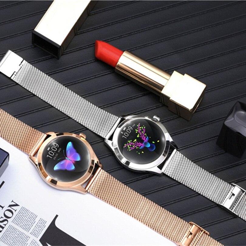 Montre intelligente de luxe femmes poignet or IP68 étanche fréquence cardiaque surveillance Bracelet Fitness pour Android IOS montre avec cadeaux S3 - 5