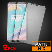 2Pcs/lot Matte Tempered Glass For Oneplus 5 5T Screen Protector Full Cover Protective Film